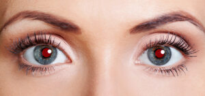Rote Augen Fotoblitz