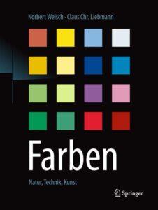 Cover des Buches Farben. 16 verschieden farbige Quadrate sind formatiert in einem Quadrat.