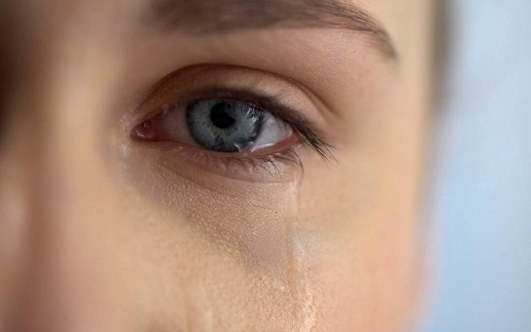 Wenn die Tränen nur so kullern