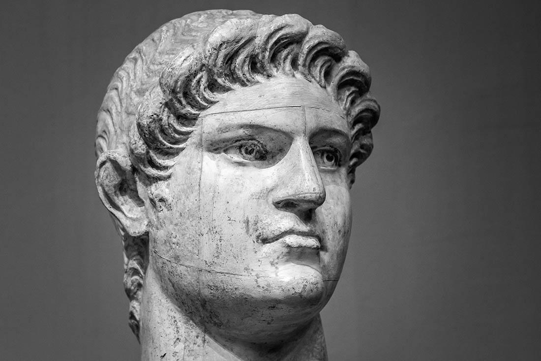 Marmorbüste des Kaiser Nero.