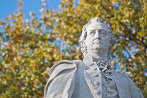 Eine Goethe-Statue